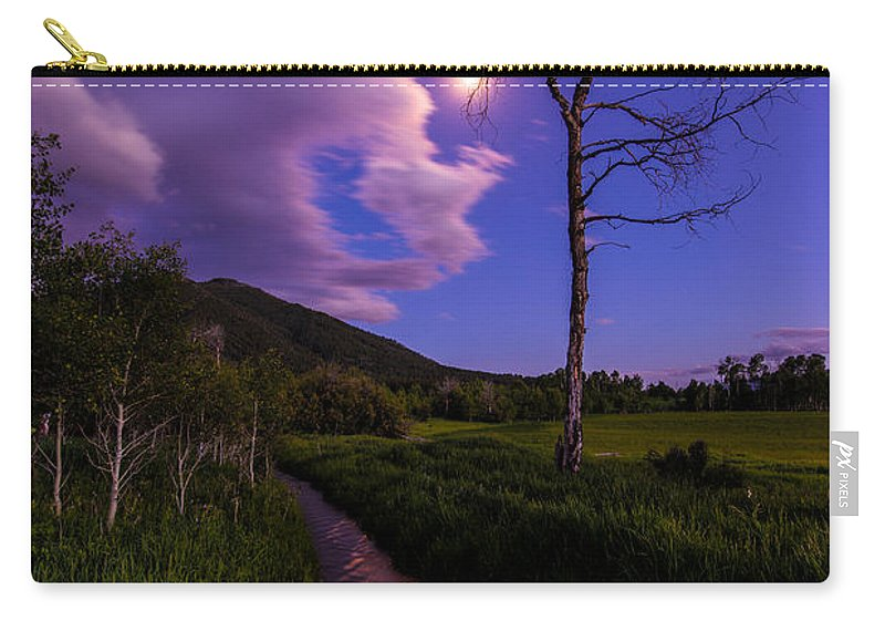 Wyoming Carry-all Pouch featuring the photograph Moonlight Meadow by Chad Dutson
