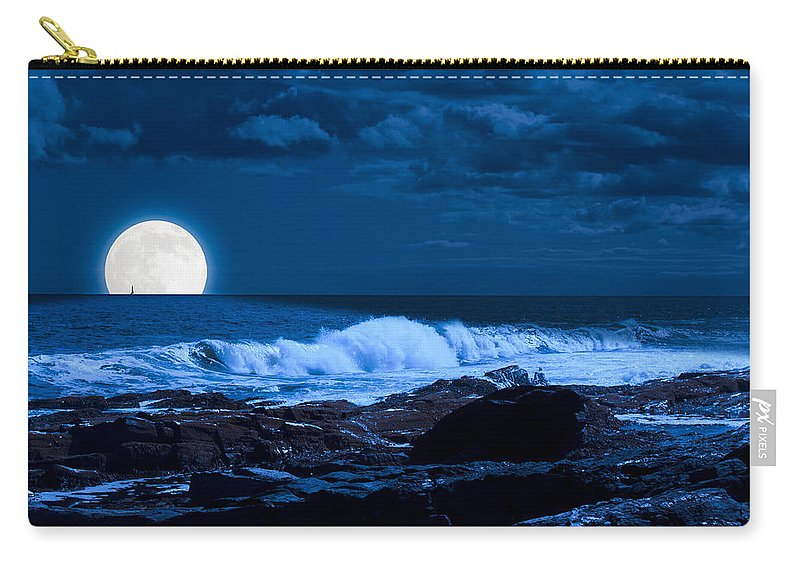 Fred Larson Carry-all Pouch featuring the photograph Moonlight Sail by Fred Larson
