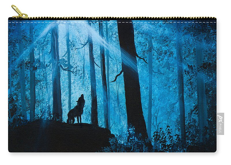 Landscape Carry-all Pouch featuring the painting Moonlight Serenade by Chris Steele