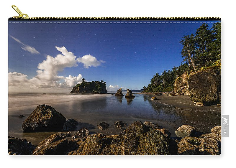 Moonlit Ruby Carry-all Pouch featuring the photograph Moonlit Ruby by Chad Dutson