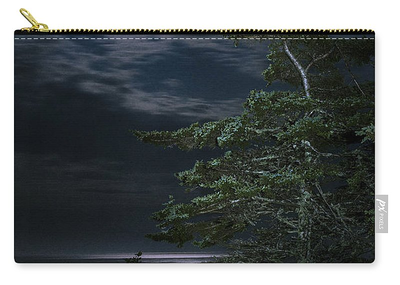 Quoddy Carry-all Pouch featuring the photograph Moonlit Treescape by Marty Saccone