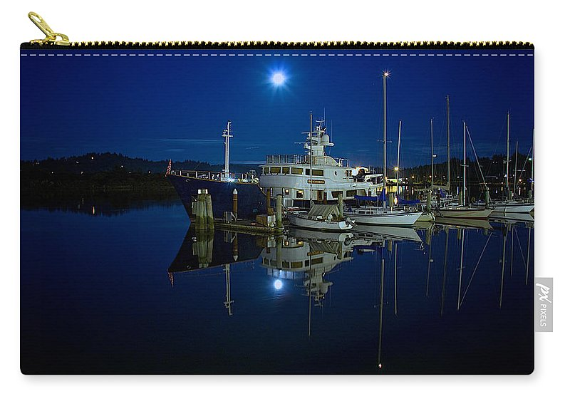 Coos Bay Carry-all Pouch featuring the photograph Moonlite Bay by Patricia Davidson