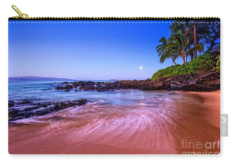 Secret Beach Carry-all Pouch featuring the photograph Moonrise Over Maui by Jamie Pham
