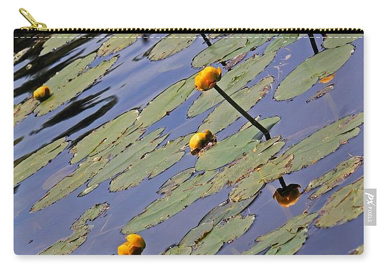 Moore State Park Carry-all Pouch featuring the photograph Moore State Park Lily Pads 1 by Michael Saunders