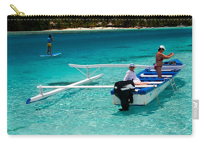 Moorea Carry-all Pouch featuring the photograph Moorea Lagoon No 12 by David Smith