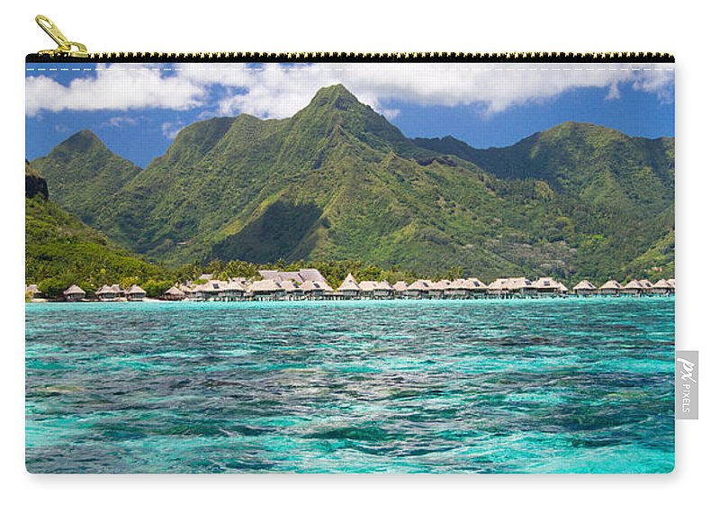 Moorea Carry-all Pouch featuring the photograph Moorea Lagoon No 2 by David Smith