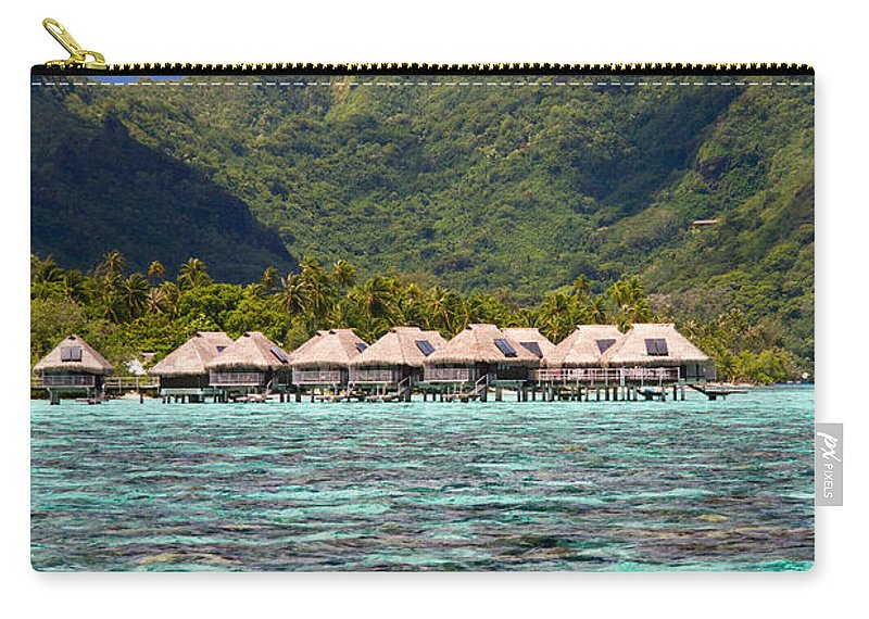 Moorea Carry-all Pouch featuring the photograph Moorea Lagoon No 3 by David Smith