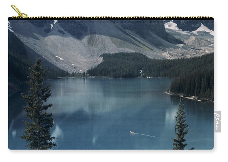 Alberta Carry-all Pouch featuring the photograph Morain Lake by Roderick Bley