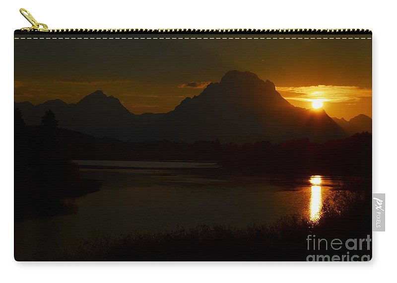 Sunset Carry-all Pouch featuring the photograph Moran Sunset by Deanna Cagle