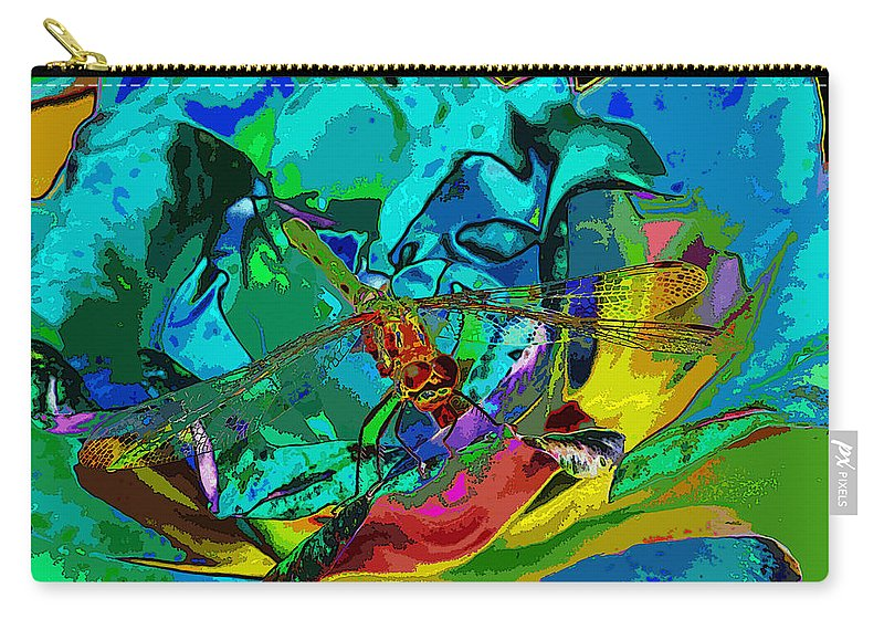 Dragonflies Carry-all Pouch featuring the photograph More Dragonfly Art by Ben Upham III