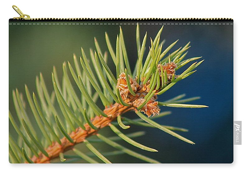Trees Carry-all Pouch featuring the photograph More Spruce Buds by Wayne Williams