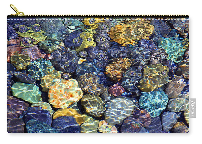 Stones Carry-all Pouch featuring the photograph More Stones by Carolyn Stagger Cokley