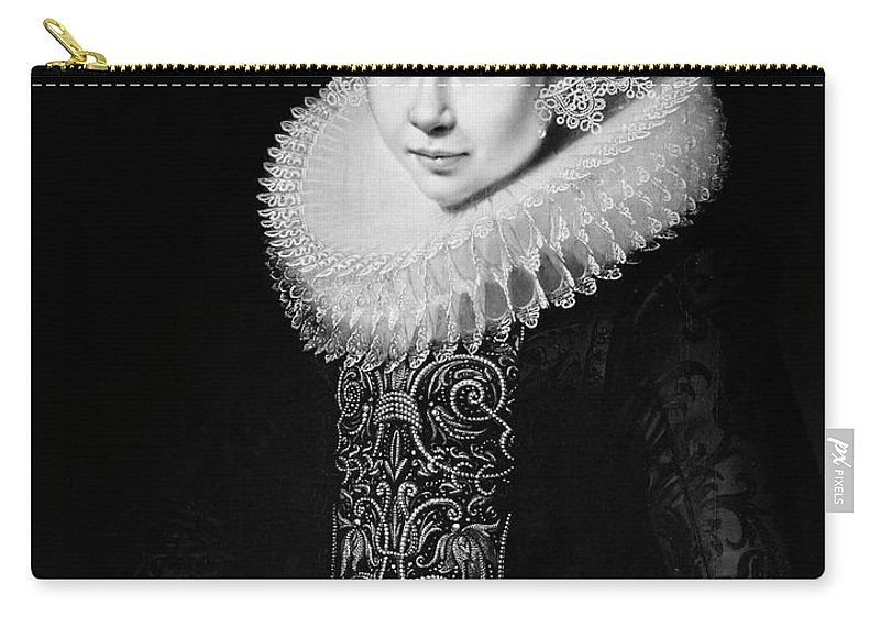 17th Century Carry-all Pouch featuring the painting Moreelse Young Lady by Granger