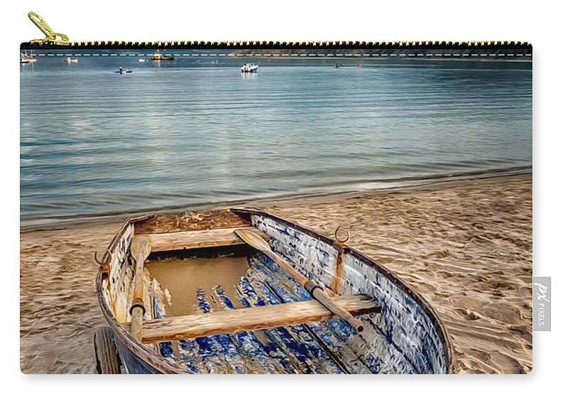 Beach Carry-all Pouch featuring the photograph Morfa Nefyn Boat by Adrian Evans