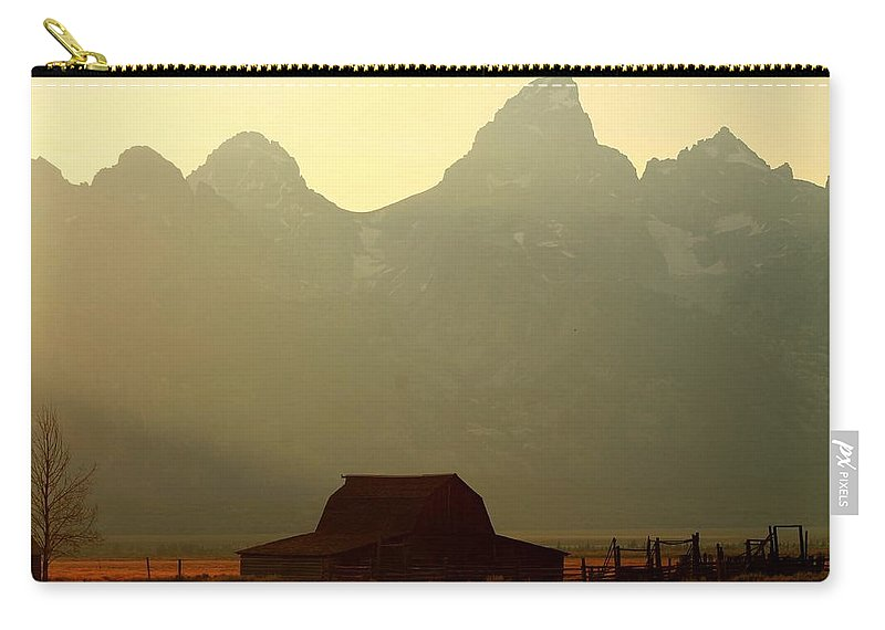 Barn Carry-all Pouch featuring the photograph Mormon Homestead by Catie Canetti