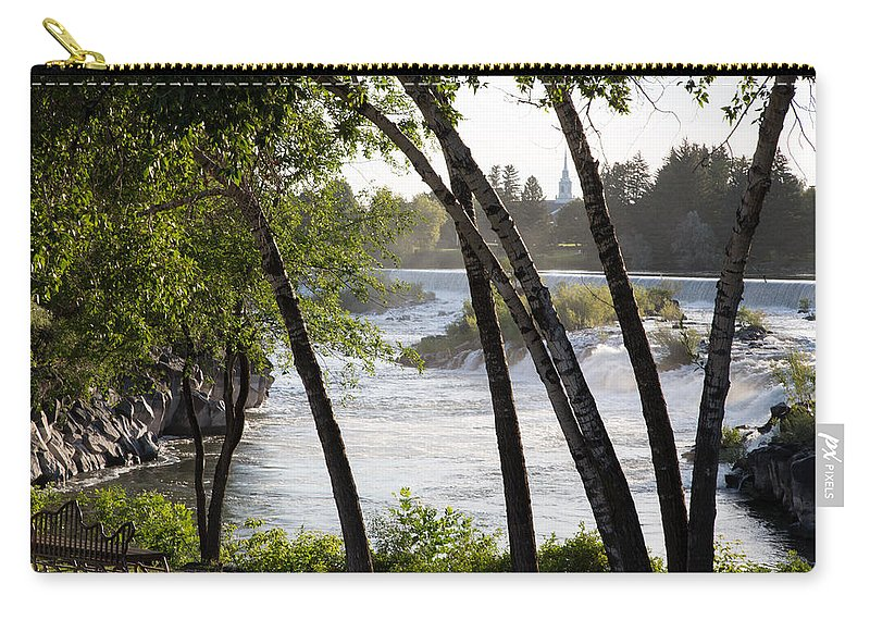 Idaho Falls Carry-all Pouch featuring the photograph Morning At Idaho Falls by John Daly