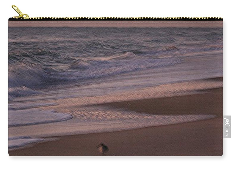 Beach Carry-all Pouch featuring the photograph Morning Birds At The Beach by Nadine Rippelmeyer