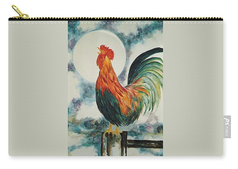 Rooster Carry-all Pouch featuring the painting Morning Call by Lord Frederick Lyle Morris - Disabled Veteran