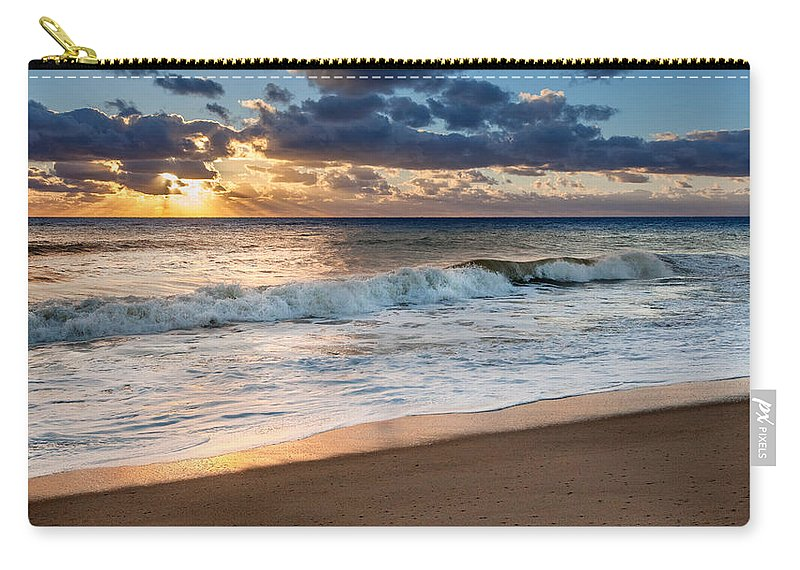 Cape Cod National Seashore Carry-all Pouch featuring the photograph Morning Clouds by Bill Wakeley