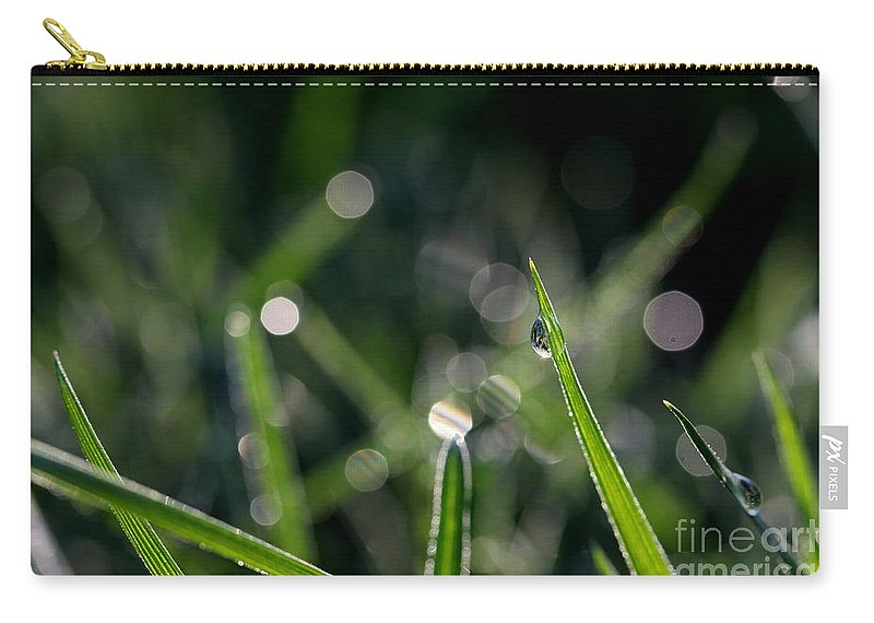 Dew Carry-all Pouch featuring the photograph Morning Dew by Kenny Glotfelty