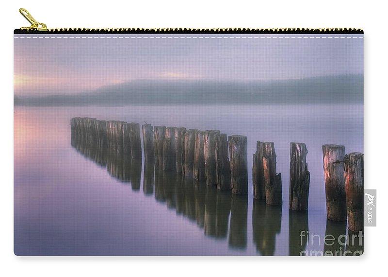 Art Carry-all Pouch featuring the photograph Morning Fog by Veikko Suikkanen