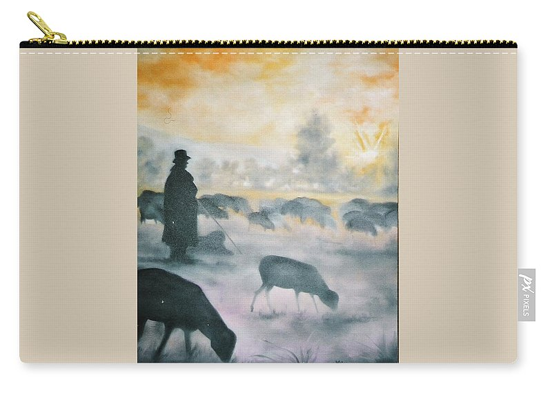 Sheep Carry-all Pouch featuring the painting Morning by Lord Frederick Lyle Morris - Disabled Veteran
