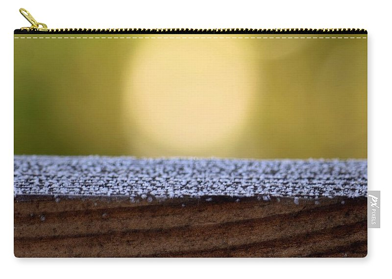 Morning Frost Abstract Carry-all Pouch featuring the photograph Morning Frost Abstract by Maria Urso