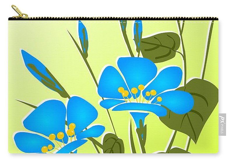 Plant Carry-all Pouch featuring the digital art Morning Glory by Anastasiya Malakhova
