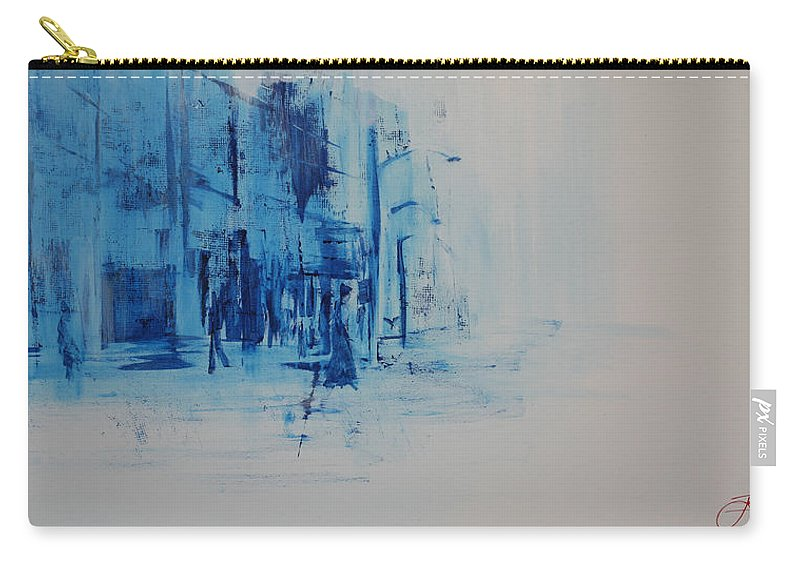 Jack Carry-all Pouch featuring the painting Morning In The City by Jack Diamond