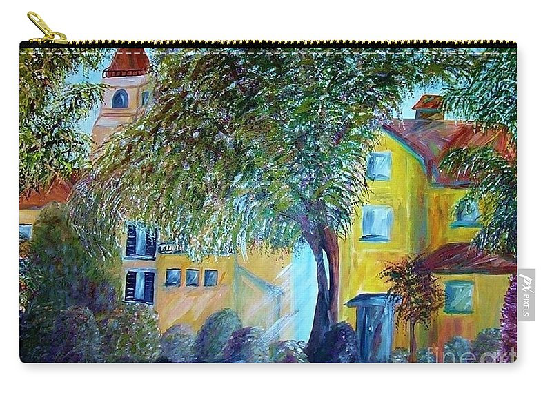 Tuscan Carry-all Pouch featuring the painting Morning In Tuscany by Eloise Schneider Mote