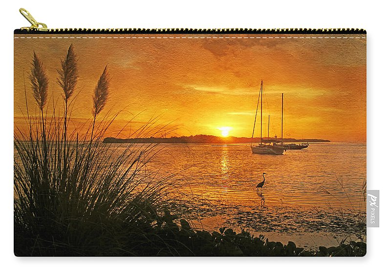Longboat Key Florida Carry-all Pouch featuring the photograph Morning Light - Florida Sunrise by HH Photography of Florida