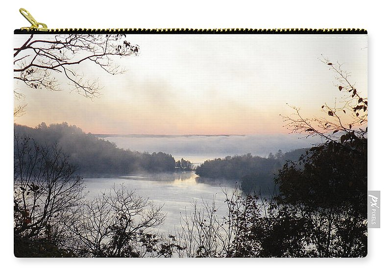 Landscape Carry-all Pouch featuring the photograph Morning Mist by Davandra Cribbie