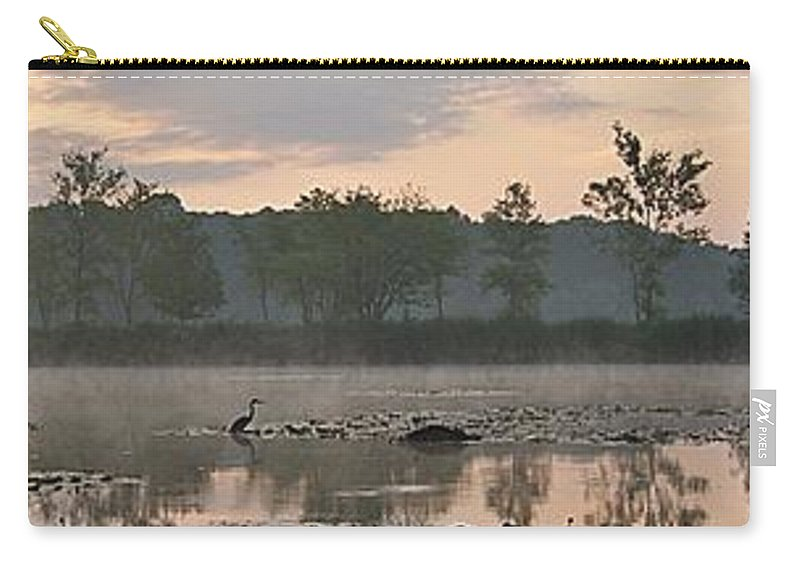Dawn Carry-all Pouch featuring the photograph Morning Mist I by Joe Faherty
