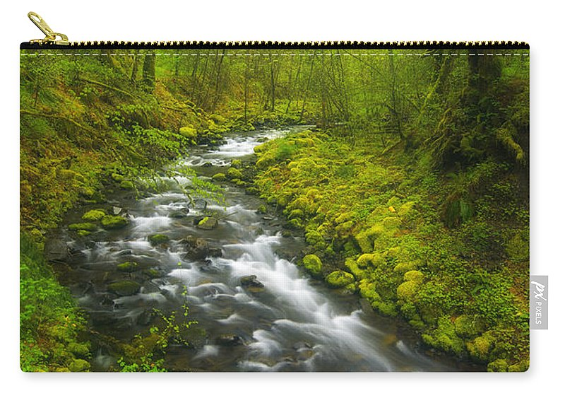 Lush Carry-all Pouch featuring the photograph Morning Misty Creek by Darren White