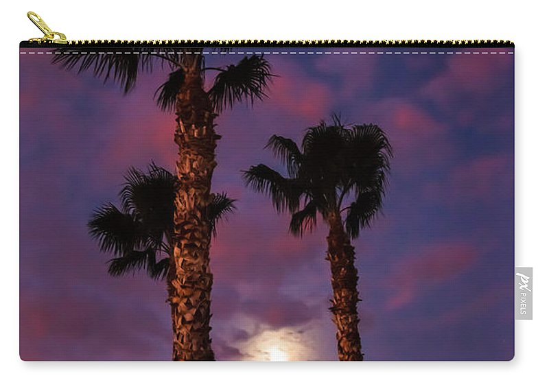 Sunrise Carry-all Pouch featuring the photograph Morning Moon by Robert Bales