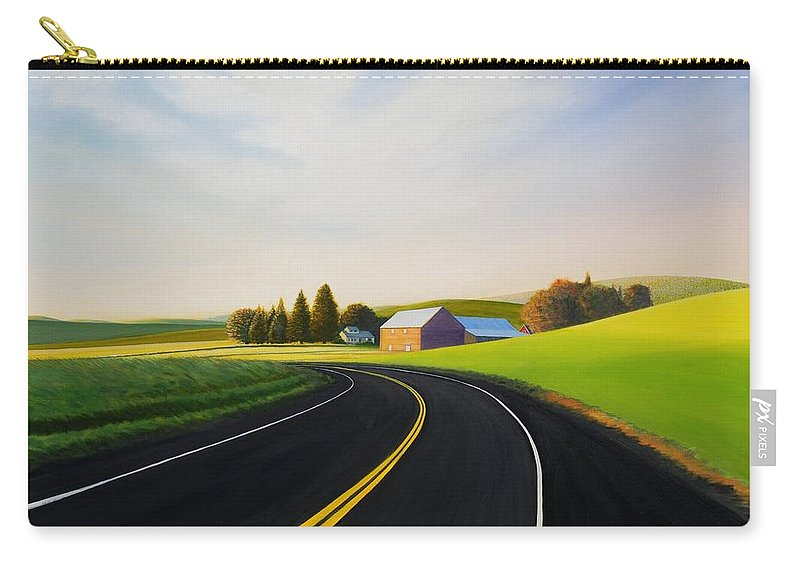 Barn Carry-all Pouch featuring the painting Morning near Rosalia by Leonard Heid