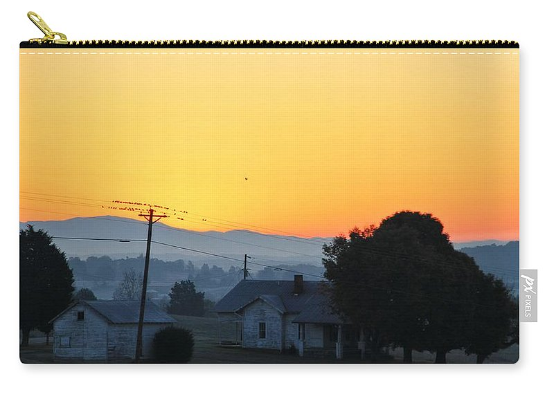 Morning On The Farm Carry-all Pouch featuring the photograph Morning On The Farm by Dan Sproul