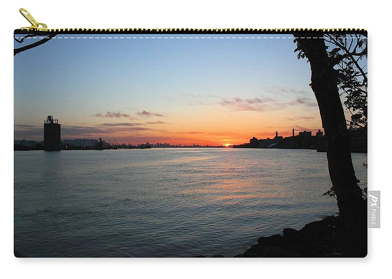 Sunrise Carry-all Pouch featuring the photograph Morning On The Kill Van Kull by Robert McCulloch