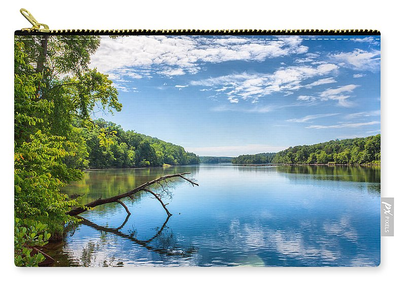 Water Carry-all Pouch featuring the photograph Morning On The River by Lynne Jenkins