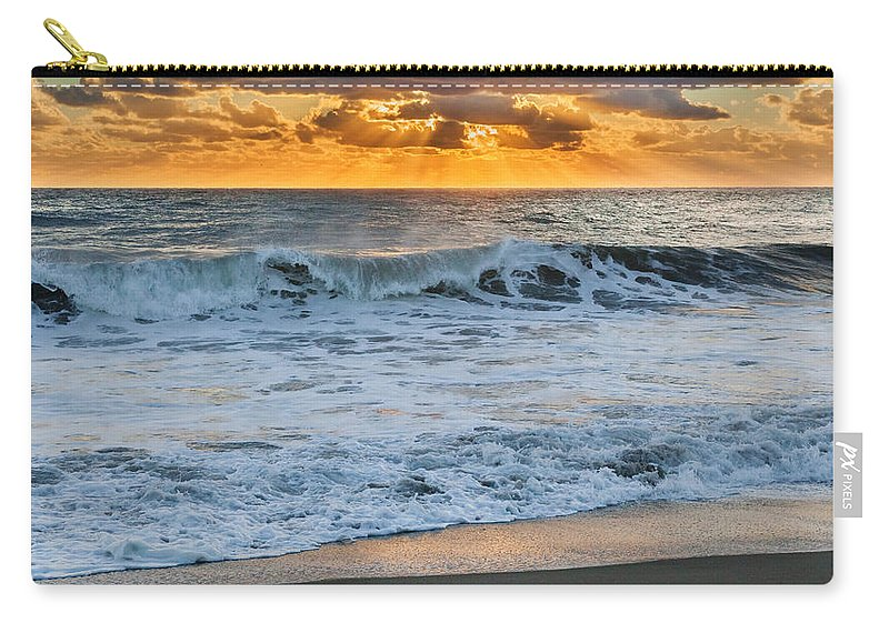 Cape Cod National Seashore Carry-all Pouch featuring the photograph Morning Rays by Bill Wakeley