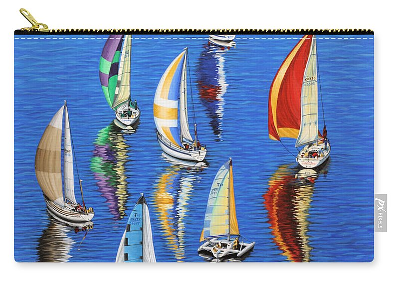 Ocean Carry-all Pouch featuring the painting Morning Reflections by Jane Girardot