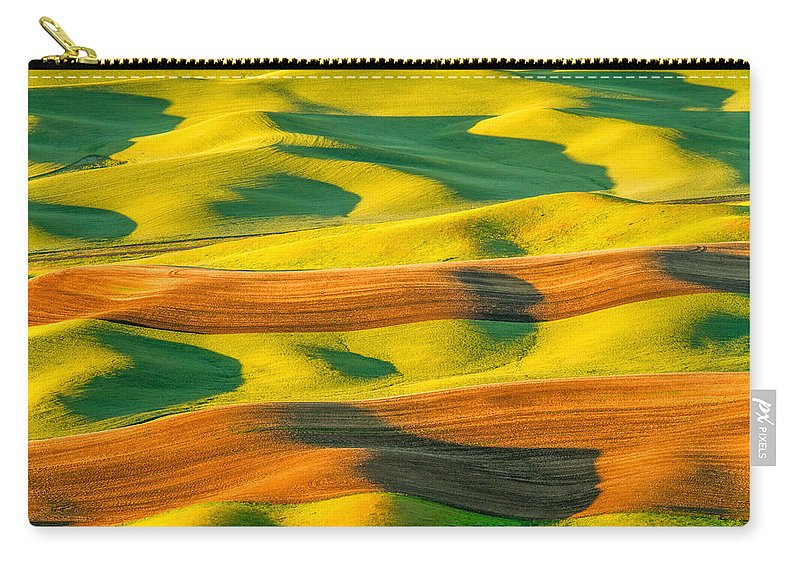 North America Carry-all Pouch featuring the photograph Morning Shadows On The Palouse by Patricia Davidson
