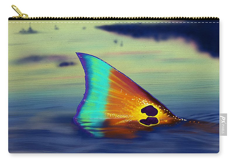 Redfish Carry-all Pouch featuring the digital art Morning Stroll by Kevin Putman