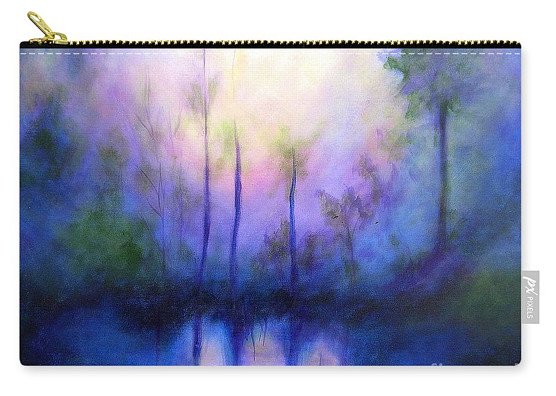 Impressionist Carry-all Pouch featuring the painting Morning Symphony by Alison Caltrider
