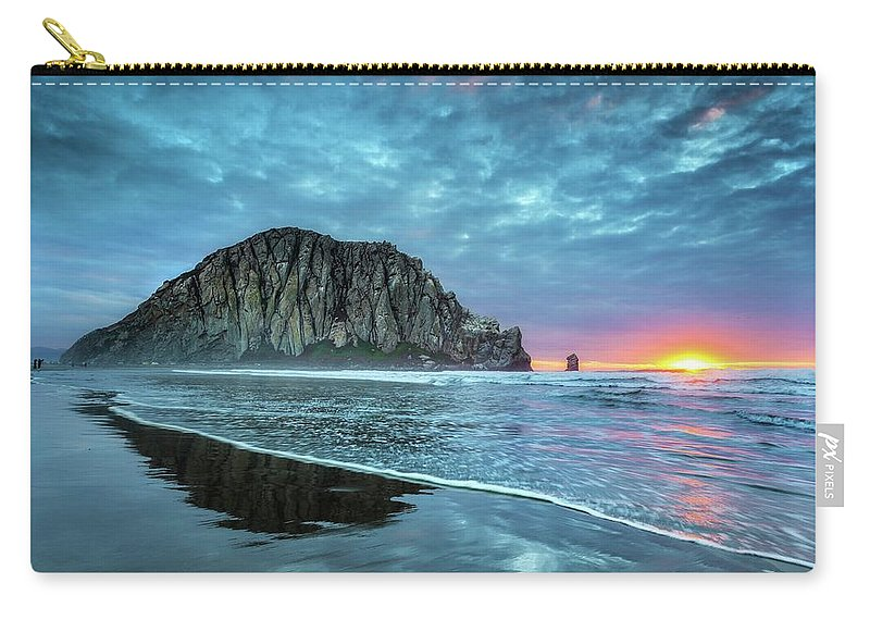 Tranquility Carry-all Pouch featuring the photograph Morro Sunset by Tom Grubbe