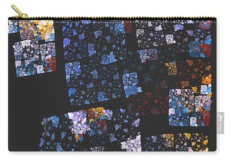 Mosaic Carry-all Pouch featuring the digital art Mosaic 126-02-13 Marucii by Marek Lutek