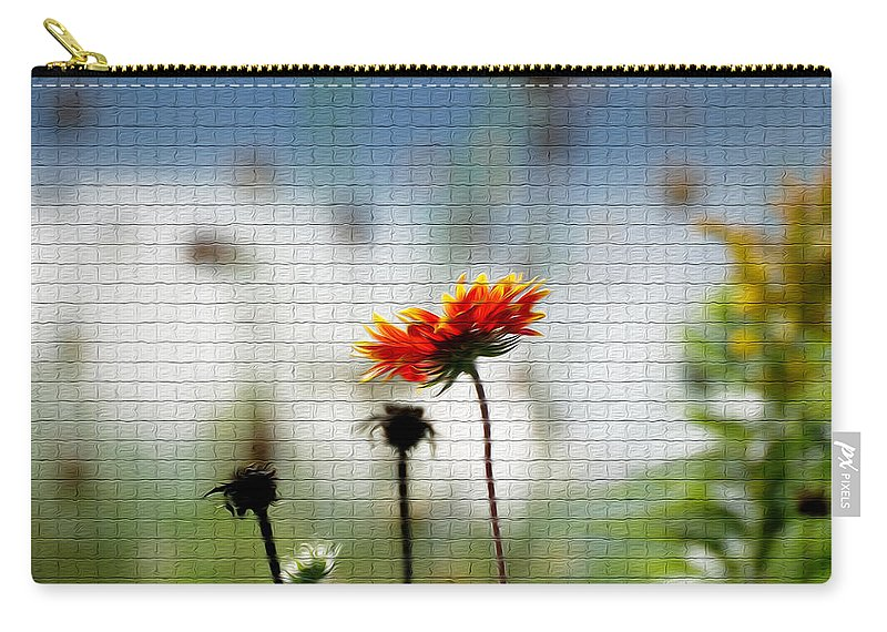Flower Carry-all Pouch featuring the photograph Mosaic Flower by Tracy Winter