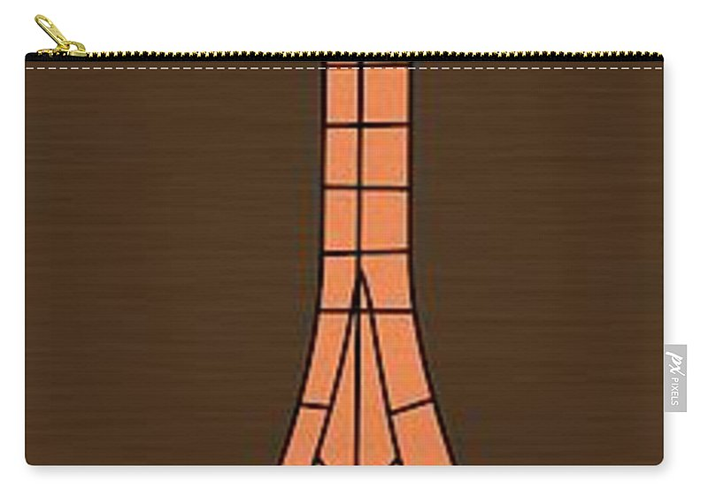 Mid Century Modern Carry-all Pouch featuring the digital art Mosaics 2 by Donna Mibus