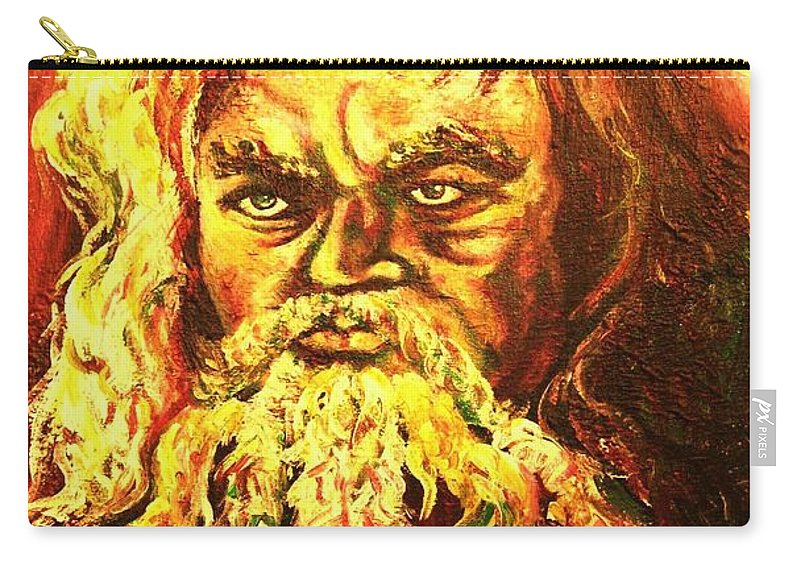 Moses Carry-all Pouch featuring the painting Moses At The Burning Bush by Carole Spandau