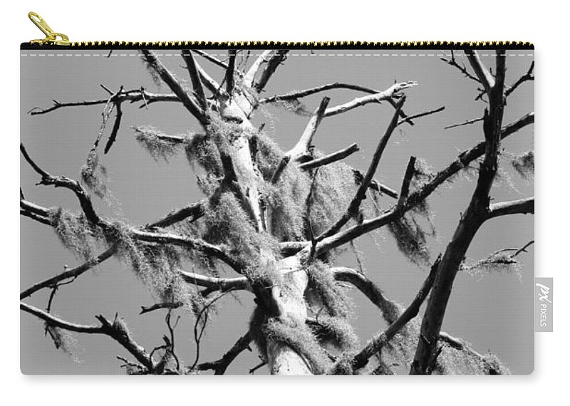 Moss Carry-all Pouch featuring the photograph Moss On Snag by Crystal Heitzman Renskers